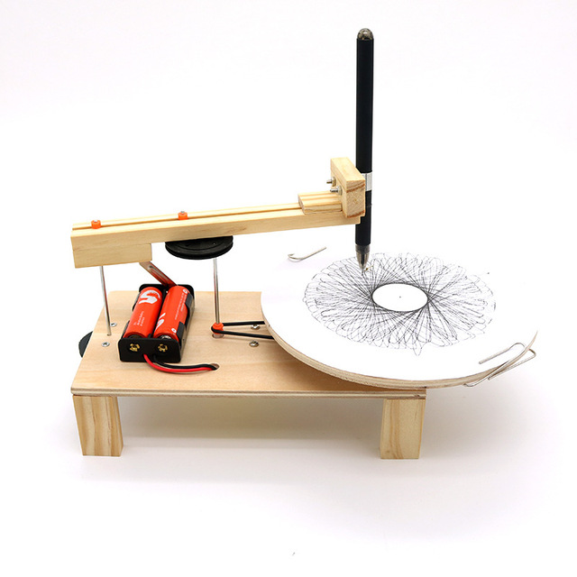 DIY-Electric-Plotter-Drawing-Robot-Kit-Physics-Scientific-Experiment-Set-Creative-Inventions-Assemble-Model-Toy-Kids