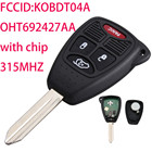 OHT692427AA Car Keys Fit For 2005 Jeep Grand Cherokee Car Key For Keyless Entry Uncut Key Fob Remote