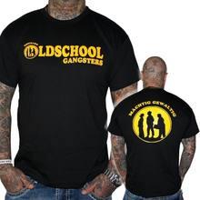 Herren T-Shirt Oldschool Gangster Schwarz Olsenbande Funshirt Shirts Herren T Shirts Mode 2018 Kleidung Drucken