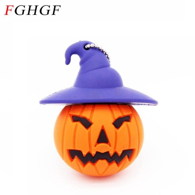 FGHGF Cartoon pen drive 8GB 16GB 32GB pumpkin head Usb Flash Drive Pendrive memory stick U disk USB creativo Wholesale