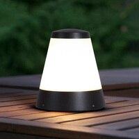 Cone imitation creative lumiere exterieur aluminum baking lamps residential corridor villa pillar light outdoor
