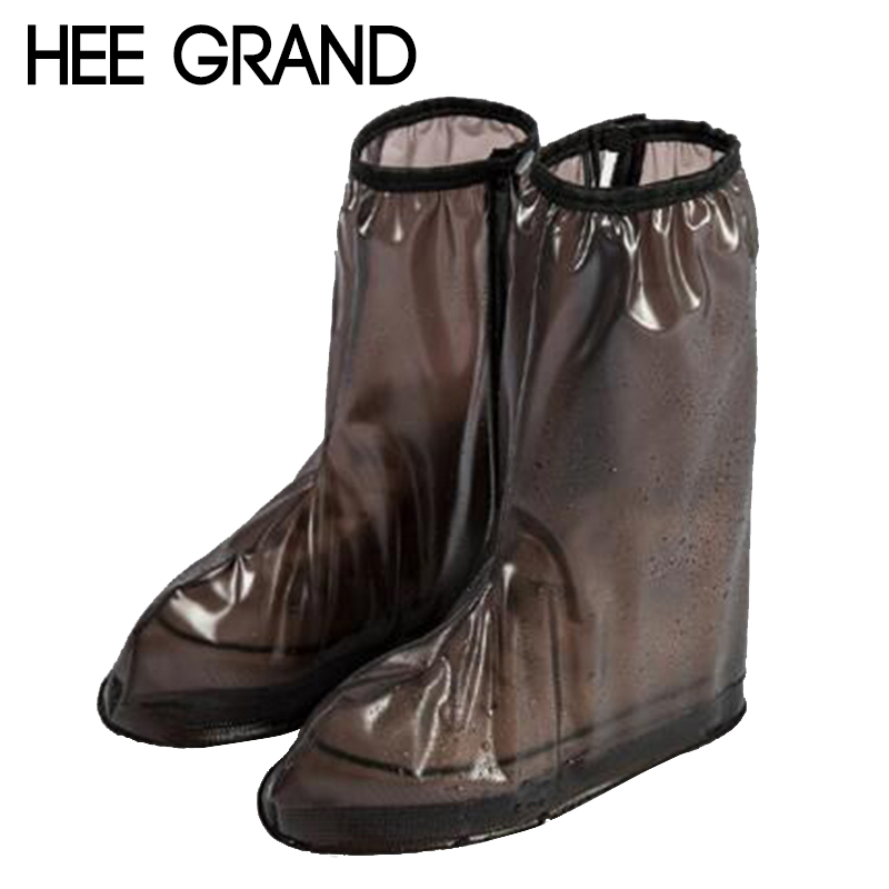 HEE GRAND Women Rainboots Cover Easy to Take With Light and Comfortable Vacation Women Shoes Cover High Cover XWX6732