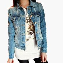 Fashion 2014 Autumn Frayed Vintage Women's Jeans Loose Denim Jacket Women Short Jean Jacket Jackets For Women Outwear Z8