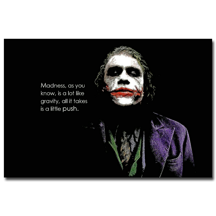 Do Not Mad Batman Joker Motivational Quote Art Silk Poster