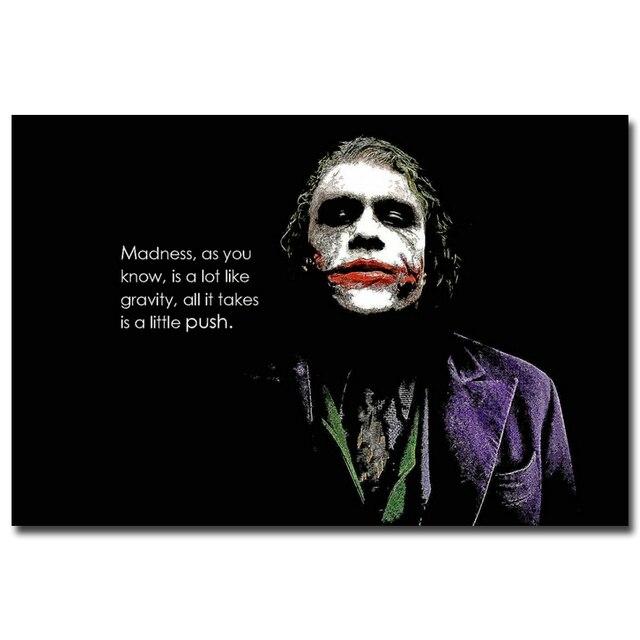 Ne vous fâchez pas Batman Joker citation motivationnelle Art soie