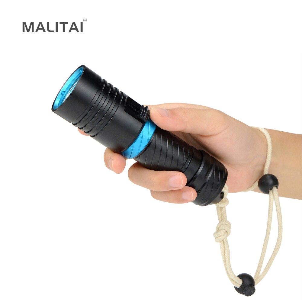 1 Stücke Tragbare Laternen Xml L2 4000lm Ip68 Wasserdicht Tauchen Led Taschenlampe Für Outdoor Camping Unterwasser Taucher Beleuchtung