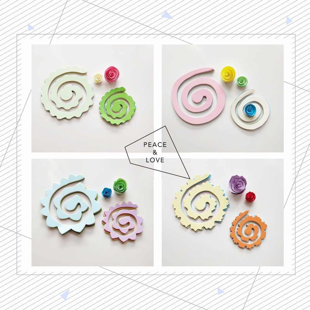 60pcs 10colors 75mm 115mm Flower Design Quilling Paper