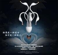 Лебедь настенный светильник Элегантный контракт спальня, коридор, настенные светильники Мода swan светодио дный огни 110 220 В Бесплатная доста