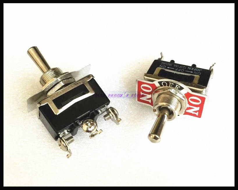 5pcs/Lot 3-Pin 3 Position ON-OFF-ON Spring Return Momentary Switch 15A 250VAC Toggle Switch 123F Brand New цена