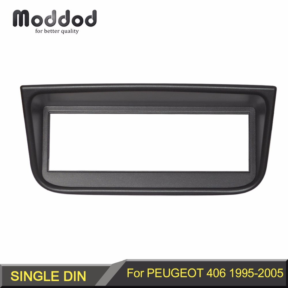 1 Din Radio Fascia for <font><b>Peugeot</b></font> <font><b>406</b></font> 1995-2005 Stereo Panel Dash CD Facia Audio Fittling Adapter DVD Face Frame Bezel Plate Mount image
