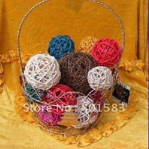 fast ship  200 pcs Natural 3 CM  Twig Vine Sphere Can be Hung / Add Lights or Greenery