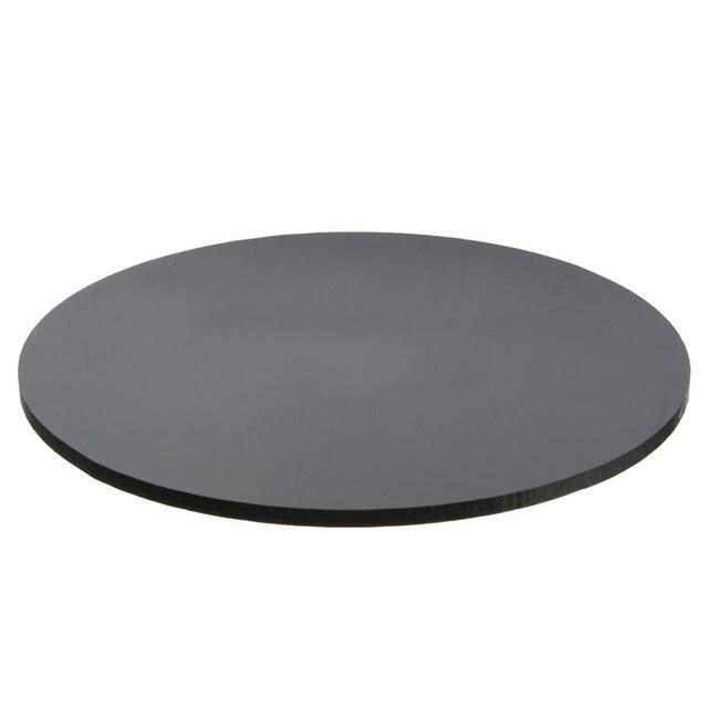 YOST Black 3mm Acrylic Plastic Circular Plate Laser Cutting Round ...