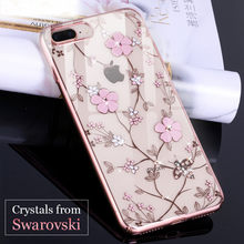 27bb3c65e051ff KINGXBAR Case for iPhone 7 8 Plus Case Rhinestone for iPhone 7 Plus Cover  Crystals from Swarovski for iPhone 8 Coque Transparent