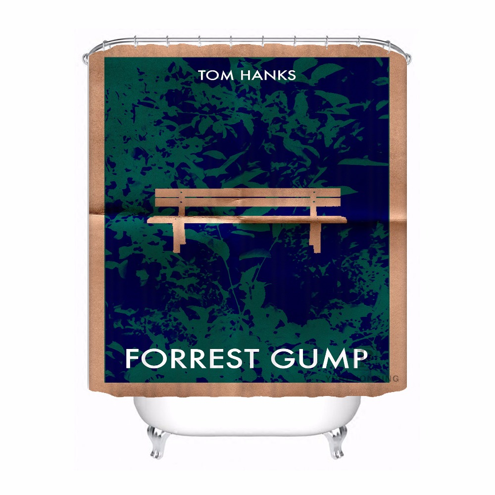 Custom Forrest Gump Bath Curtain Bathroom Mildewproof Waterproof Polyester Shower Curtain#180417-02-132