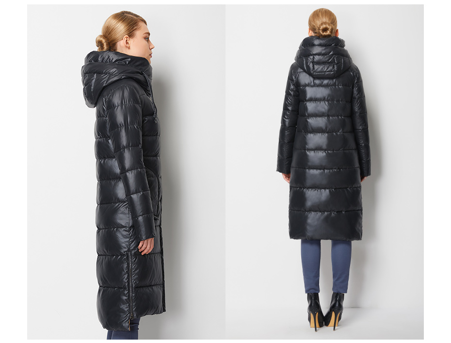 Fashionable Coat Jacket Women's Hooded Warm Parkas Bio Fluff Parka Coat High Quality Female New Winter Collection 24