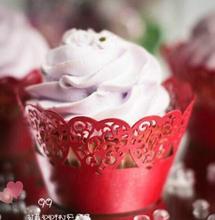 360pcs/lot Wedding Banquet Cake Biscuit Paper Laser Cut Love Heart Design Surrounding Edge Snack Bar Dessert Wrapper wc537