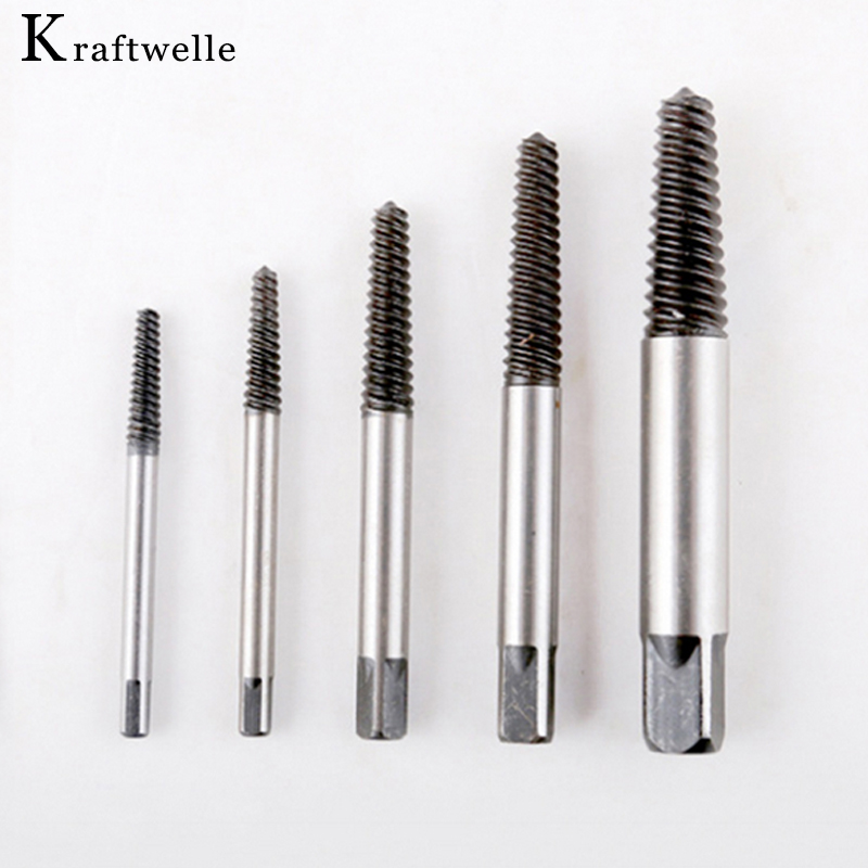 5Pcs/Set Screw Extractor 3-18mm Broken Bolt Remover For Power Tools Drill Guide Bits Set