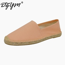 DZYM 2017 Pure Hand-made Canvas Espadrille Women Ballet Flats Top Quality Sewing Shoes Linen Footwear Comfort Zapatos Mujer