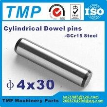 50 шт./лот 4x30 мм фиксирующие штифты/штифты дюбеля/цилиндрические штифты для механического использования-Материал: сталь GCr15(T15112401