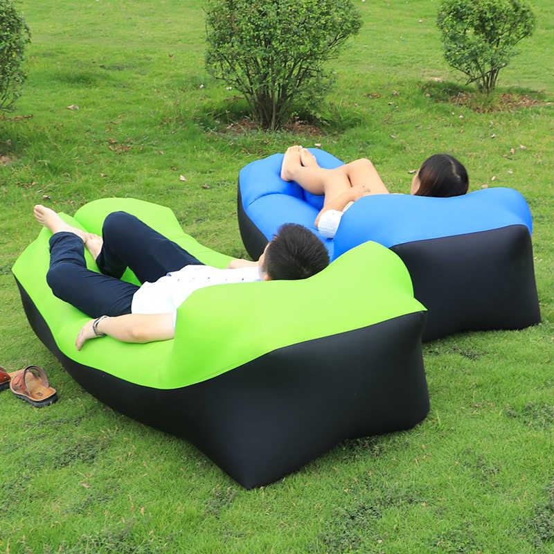 Sofá inflável Cadeira Espreguiçadeira sofá de Banana Saco de Dormir Colchão de Ar Cama de Ar Sofá Do Assento Acampamento Laybag preguiçoso saco de Rede de campismo