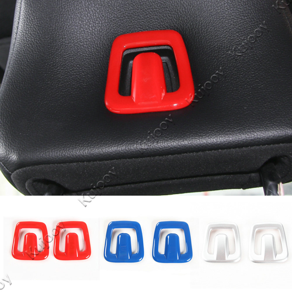 Pair 3 Colors Car Inner Accessories Car Seats Pillow Pad Hook Frame Trim Cover Stickers Frame For Ford Mustang 2015 2016 2017