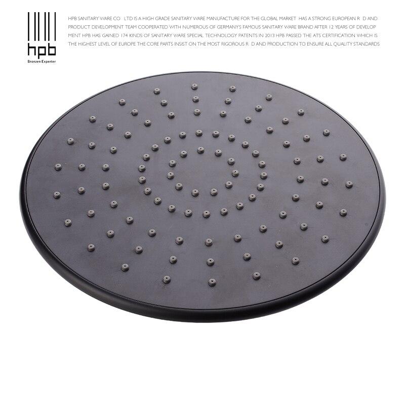 HPB Matte Black 230*230mm 9 inch Round ABS Plastic Shower Head ...