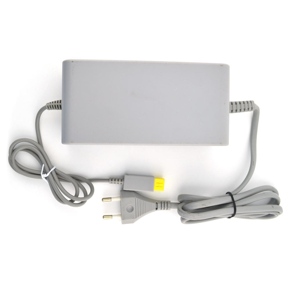 50PCS a lot EU Plug 100-240 Power Supply AC Charger Adapter Cable for Nintendo Wii U WiiU Game Console/host Gamepad/Pad