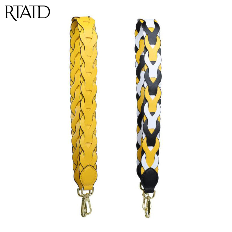 RTATD New Pu Leather Women Bags Strap Long Stripe Design Lady Shoulder Strap Easy Matching Bag Belts B341