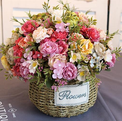 Aliexpress buy artificial flowers peony cheap silk flower artificial flowers peony cheap silk flower bouquet mini peony home table wedding decorative flowers mightylinksfo