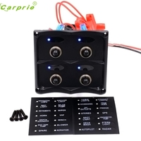 New Arrival Car Styling 4 Gang Waterproof Car Auto Boat Marine LED Switch Panel Circuit Breakers