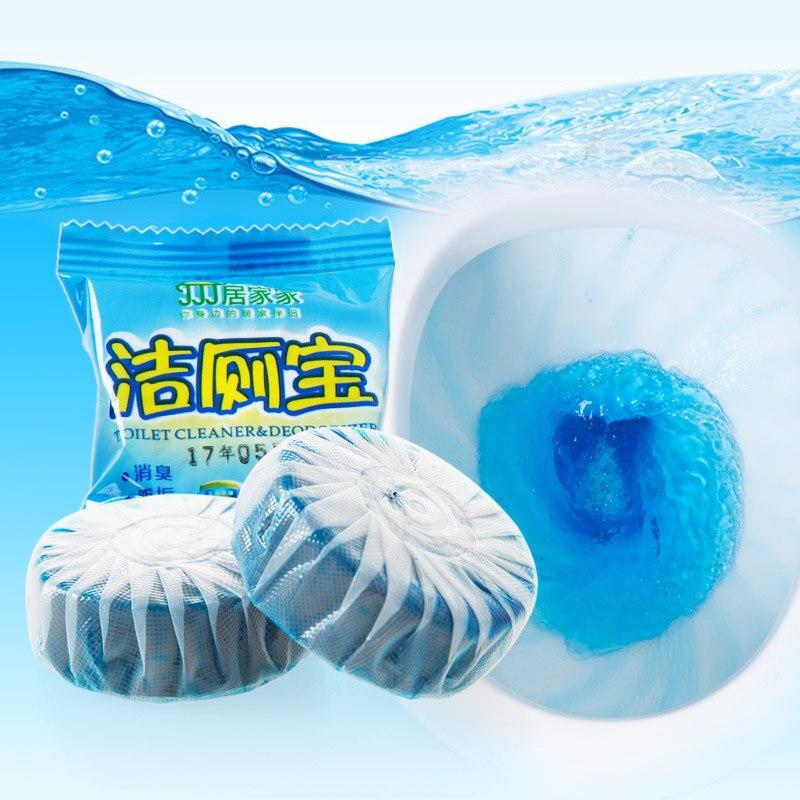 Pine Wood Blue Bubble Deodorizer Clean Toilet Block Cleaner