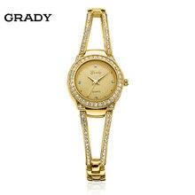 Luxury Brand Женщины платье Часы Высокое Качество Золотой Браслет Кварцевые Часы женщины часы Модные Женские часы