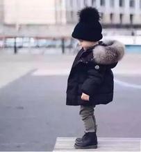 Мода детские зимние куртки Меховой воротник вниз пальто верхняя одежда сплошной цвет хлопка-ватник утолщение девушки