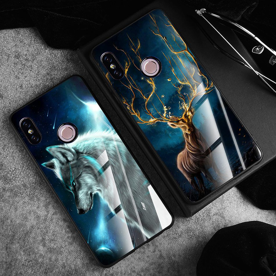 Tempered Glass Case For Xiaomi Redmi Note 5 5 Pro 5 Plus Note 4X Case Luxury Animal Pattern Case For Xiaomi Mi 8 A1 5X Coque     (13)