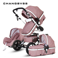 Luxury Multi function Trolley Baby Stroller 3 in 1 High Landscape Baby Carriage Seat and Sleeping Prams For Newborn poussette