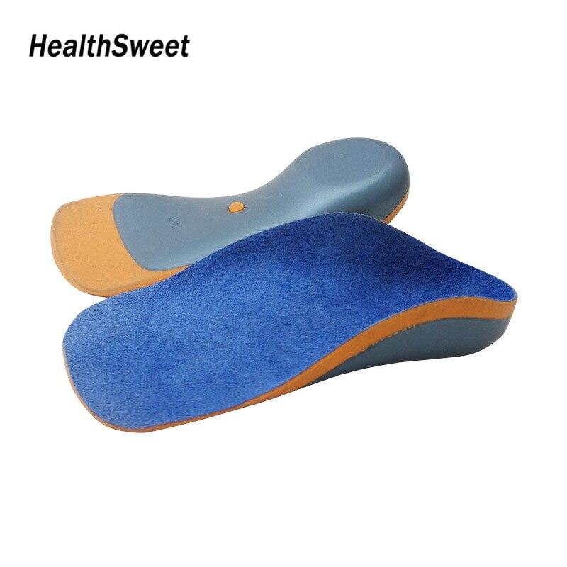 La voûte orthopédique Healthsweet soutient les semelles intérieures orthèse semelle intérieure pour les orthèses Valgus x-leg enfants chaussures Pad pieds plats EVA