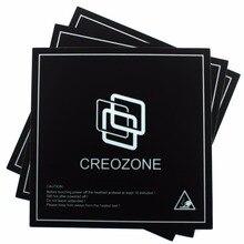 "CREOZONE B2 3D מדפסת מיטת לבנות גיליון 100% לא Adhensive שאריות מחומם מיטה לבנות משטח 8.42 ""* 8.42"" (214mm * 214mm) 3 יח\חבילה"