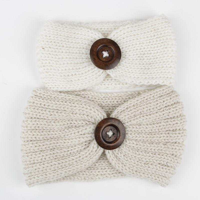 Nishine 2 шт./компл. Новый осень-зима мама и я держателя вязания крючком вязаная для девочек повязка на голову мама и мне соответствующие Банданы...