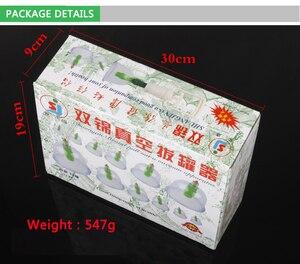 Image 4 - 12 unids/set masajeador aspirador corporal médico chino acupuntura magnética ventosa masaje portátil TENS para terapia Hijama Cupping