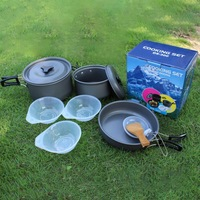 DS300 Set Of Camping Outdoor 2 3 Barbecue Portable Pot Pot People Pot Picnic Pot Set Camping Set Set