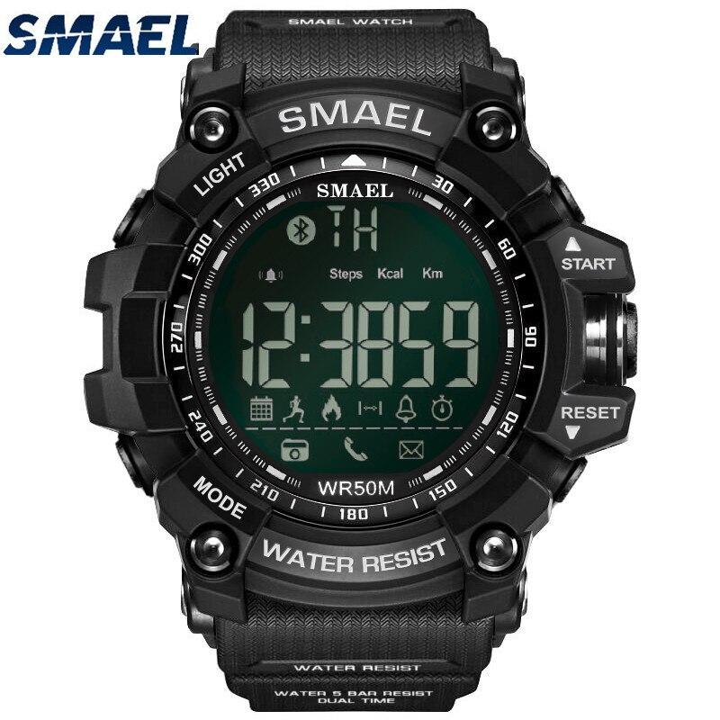 SMAEL Esporte Digital Relógio À Prova D' Água Esportes dos homens relógio de Pulso Inteligente Bluetooth Relógios erkek kol saati dijital relogio masculino