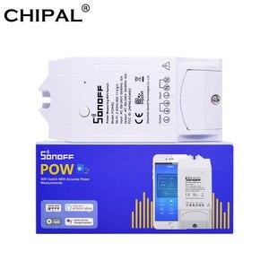 Image 3 - Itead Sonoff Pow R2 16A Wifi commutateur intelligent avec une plus grande précision moniteur consommation dénergie la mesure de puissance à domicile intelligente fonctionne avec Alexa