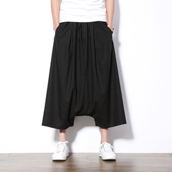 Summer shorts chinese style hip hop harem trousers high quality cotton and linen casual loose mens.jpg 250x250