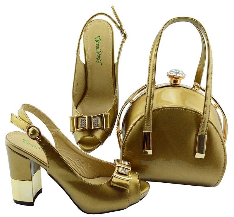Новая модная итальянская обувь с африканскими согласования сумки женская обувь на высоких каблуках и Сумки создан для Выпускной MD001