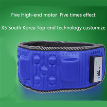 5 Motor Electric Vibrating Slimming Belt Massage Waist Slimming Exercise Leg Belly Fat Burning Heating Abdomen Massager