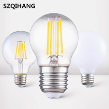 Superior Quality E14 5W Led Filament Bulb E27 8W Warm White Cold 3000K 6000K Glass /Frosted Cover COB Lamp AC85-265V