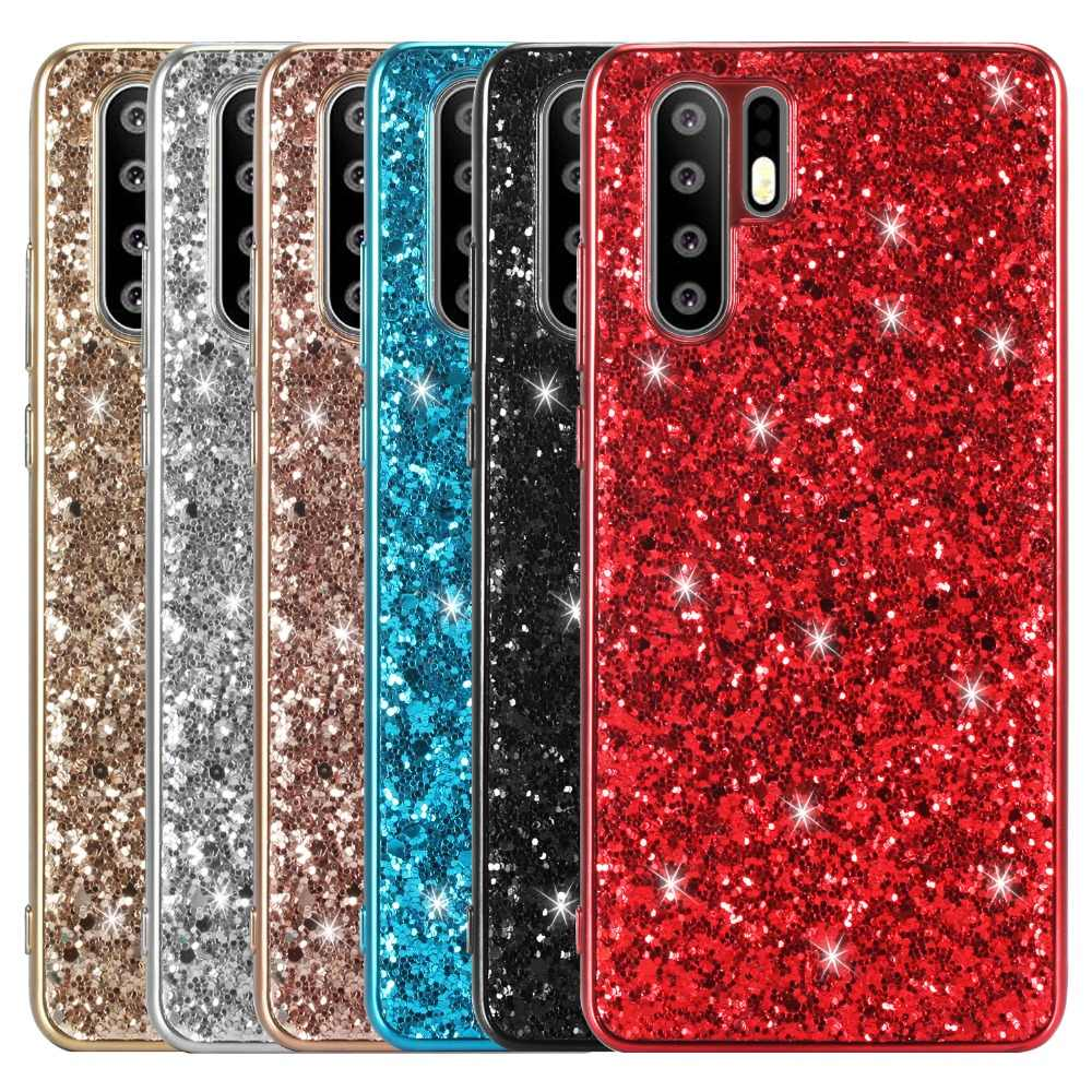 Luxury Glitter Case for Huawei P30 Pro P20 Mate 20 Lite Y5 Y6 2019 Case Bling Bling Sequins Cover Honor 10i 8S 8A Pro View 20