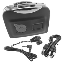 Reproductor de Cassette independiente, convertidor de cinta de Cassette portátil a MP3, grabadora de música, Flash grabado MP3 a USB