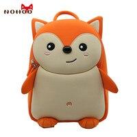 Nohoo Cute Fox Animal School Bag For Boys Kids Waterproof Backpack Kindergarten Girls 3D Cartoon Shape