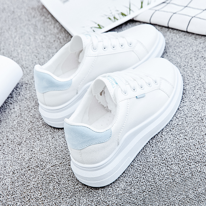 Women Sneakers 2018 Spring Autumn PU Leather Women Shoes Fashion Lace-Up Women Flats Breathable White Women Casual Shoes simple pu leather and lace up design sneakers for women